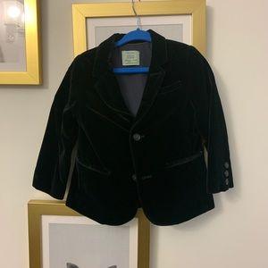Zara Baby Black Velvet Blazer-  2t-3t